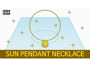 [1DAY_1CAD] SUN PENDANT NECKLACE