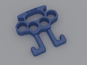 brass knuckles & bag holder