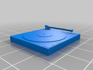 Dj Record Turntable for 3D Printer