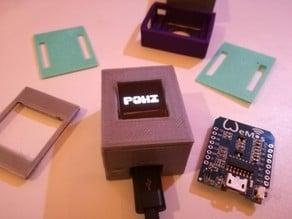 Wemos D1 Mini + 0.66 inch 64X48 OLED Enclosure