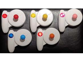 Ergonomic Joystick Box with Button (Plain & PAC-MAN Style)