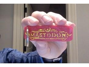 Mastodon Emperor of Sand Keychain