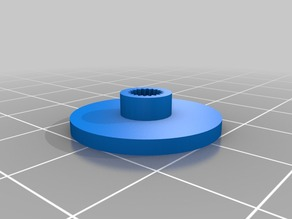 Micro-servo (SG90) round mounting plate
