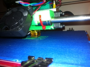 Carriage for Prusa Mendel with 25mm and two 40mm fan mounts