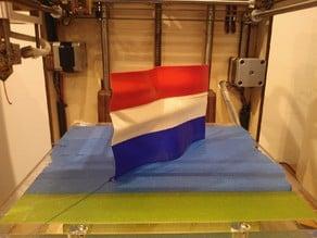 wavy Dutch flag