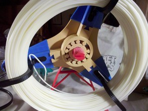 Mini Heavy Duty Printable Filament Spool with Cylinder Bearings
