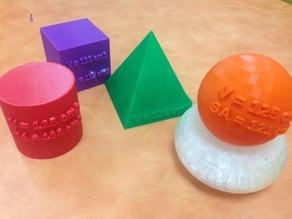 Equal Volume Solids Set + MakerEd Project