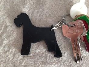 Schnauzer keychain
