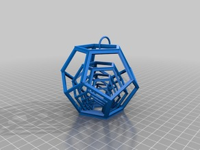 dodecahedron keyring