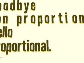 OpenSCAD League Gothic Proportional Font Module