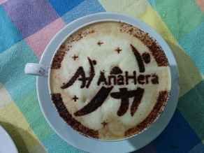 Anahera is started successifully! this cappuccino stancil is a free gift for a Network that will change people's life :D