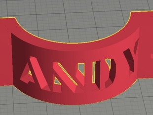 OpenSCad Stencil Font for Write library