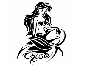 The little mermaid stencil