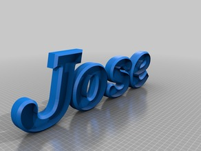Letters name Jose