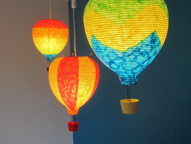 Hanging Hot Air Balloon Lamp By Spencer Thingiverse