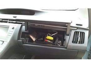 Upper glove compartment organizer for 3rd gen Prius