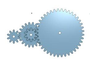 Tres engranes three gears