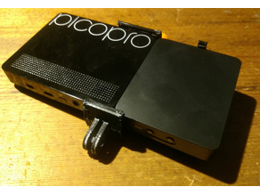 MMS GoPro-style holder for a Celluon PicoPro projector