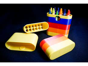 Travel Crayola box with clip on lid