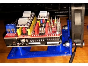 Arduino Uno base plate with 60mm fan mount