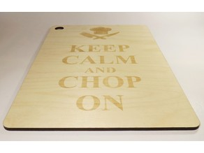 Laser cut Cutting Board made of Birch Plywood