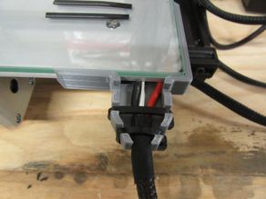 Creality CR-10 Wire management, Strain relief and Glass holder