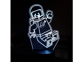 Lego Movie Benny the '80s Space Guy LED Lamp Plate