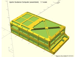 Apollo Guidance Computer (AGC) 1:1 scale model (WORK IN PROGRESS)