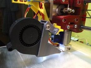 Fan duct for radial fan
