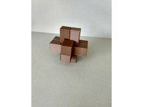 Cross Interlocking 3D Puzzle - Rounded Edges