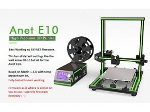 ANET E-10 TO CREALITY CR-10 STOCK FIRMWARE MARLIN 1.1.6