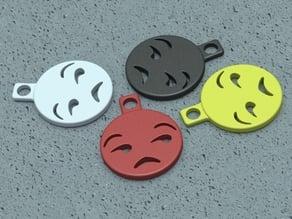 Unamused Emoji Keychain Charm