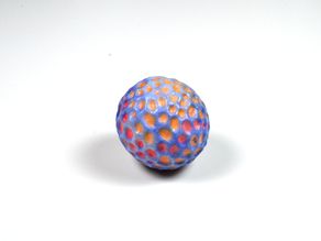 A colourful ball designed with 123D Sculpt