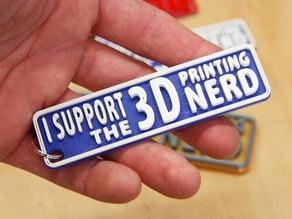 3D Printing Nerd Keychain