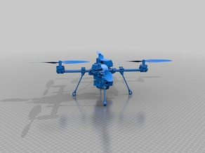 Medium Sized Quadrocopter with damped electronic plates