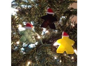 Carcassone Meeple Christmas Ornament