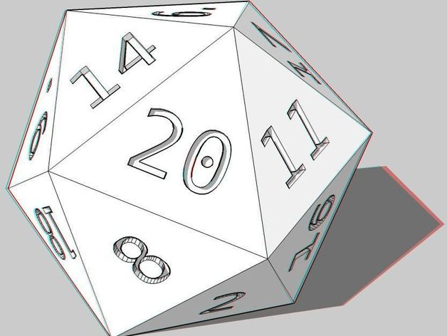 D20, Anaglyph