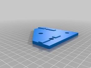 Flat Square Holder For 3030 aluminum Extrusions
