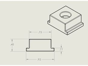 T-Nut for Ridgid Table saw