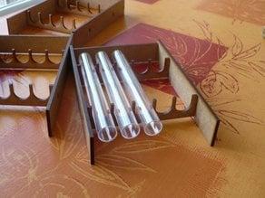 Test tube rack for ant rearing