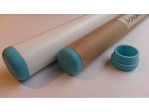 customizable round tube endcap