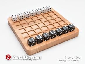 Board Game 'Dice or Die' cnc