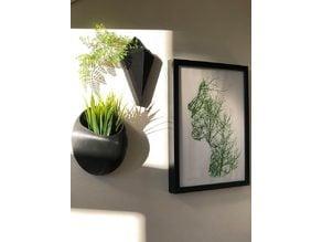 Wall mounted vase