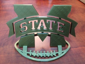 Mississippi State Logo Football Stand