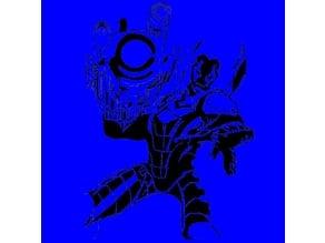 Blue Beetle stencil