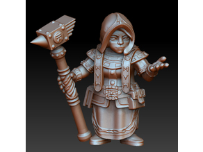 Dwarf woman rune priest
