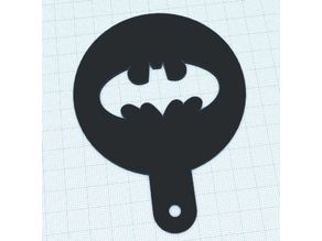 Batman Coffee Stencil