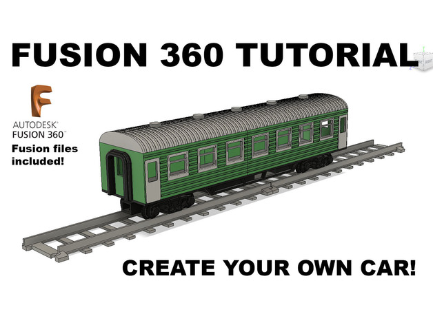 Train Car Tutorial in Fusion 360 for OS-Railway by