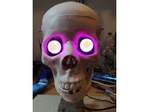 3 Axis Skull and 2 Axis Eyes - Halloween Skull Project