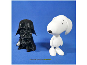Rotatable and interchangeable heads-Star Wars - Darth Vader & Snoopy